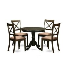 East West Furniture ANBO5-CAP-C Round Table and 4 Chairs For Dining Room NEW
