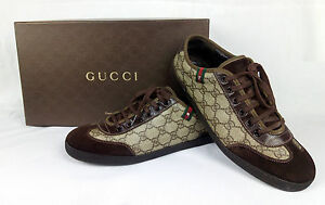 a33c6e5e Details about 100% Authentic GUCCI GG Plus Suede Lace-up Sneakers Shoes  Beige/Brown 7.5 / 40.5