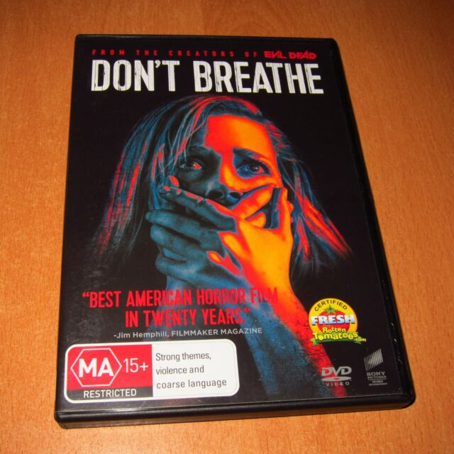 DON'T BREATHE ( DVD , REGION 4 ) DISC LIKE NEW !