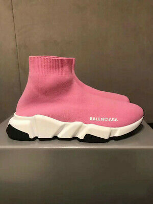 UK Boys Girls Designer Style Knit Speed Sock Runner shoes Trainers Kids Sneakers