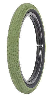 1 x SUBROSA SAWTOOTH BMX BIKE BICYCLE TIRE 20 x 2.35 FIT CULT SHADOW ARMY GREEN