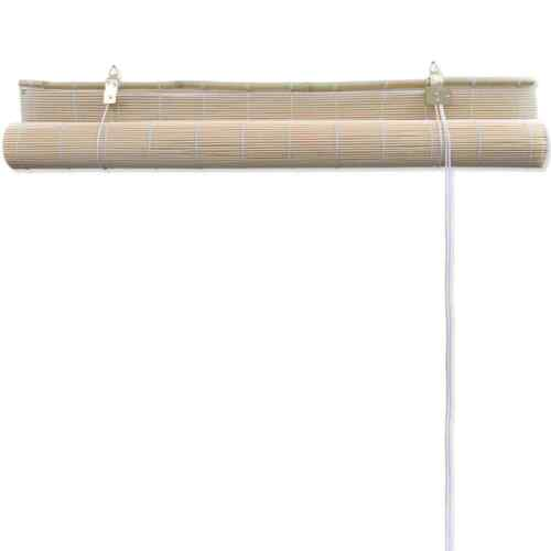 Bamboo Roll Up Shade Brown Roller Blind Interior Wood Window Curtain 39/'/' x 63/'/'