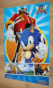 Sonic The Hedgehog 4 Episode I Rare Small Poster 42x28cm Ps3 Xbox 360 Ebay