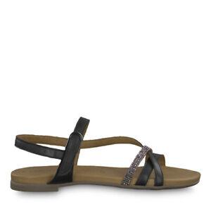 28120 Tamaris Schwarz 001 Damen Touch 1 Zu It Details Schuhe Leder Sandalette Sandalen 22 qUMVGSpz