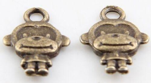 sans plomb Wholesale 44//95Pcs Tibétain Bronze Singe Charms 15x10mm