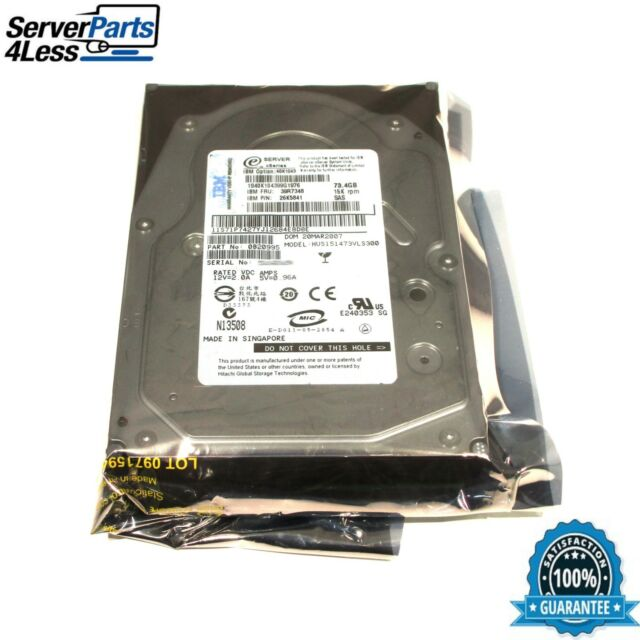 "HUS151473VLS300 IBM/Hitachi Ultra Star 73GB 16MB Buffer LP 3.5"" SAS Hard Drive"