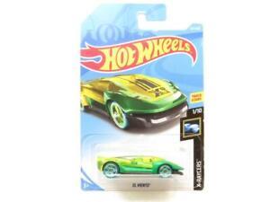 Hotwheels-el-viento-verde-X-Raycers-227-365-largo-tarjeta-1-escala-64-Sellado