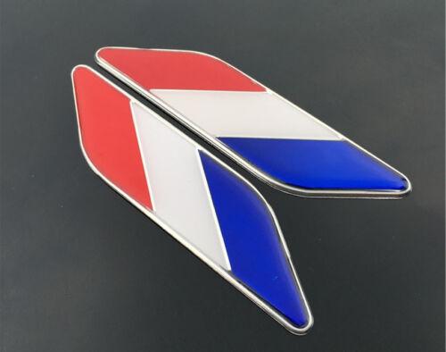 French Flag 3D Metal Car Auto Truck Fender Bumper Sticker Emblem Badge Decal