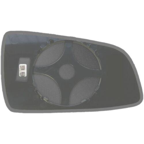 Left Side Clip On Heated Mirror Glass for Vauxhall Zafira B 2005-2009 0022LSHP