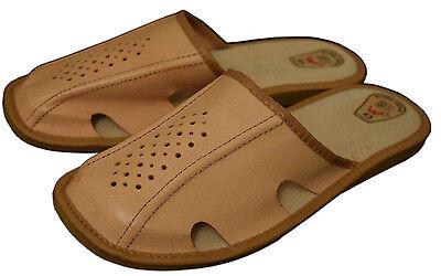 Para Hombre Zapatillas Zapatos Mula Cuero Natural Hecho A Mano Marrón