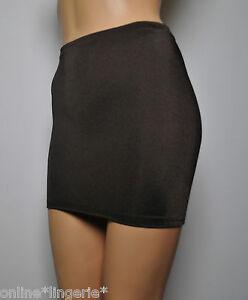 038337a4aeb8 4-6 Mini Skirt Dark Brown Lycra Stretch Short Bodycon Ladies Womens ...