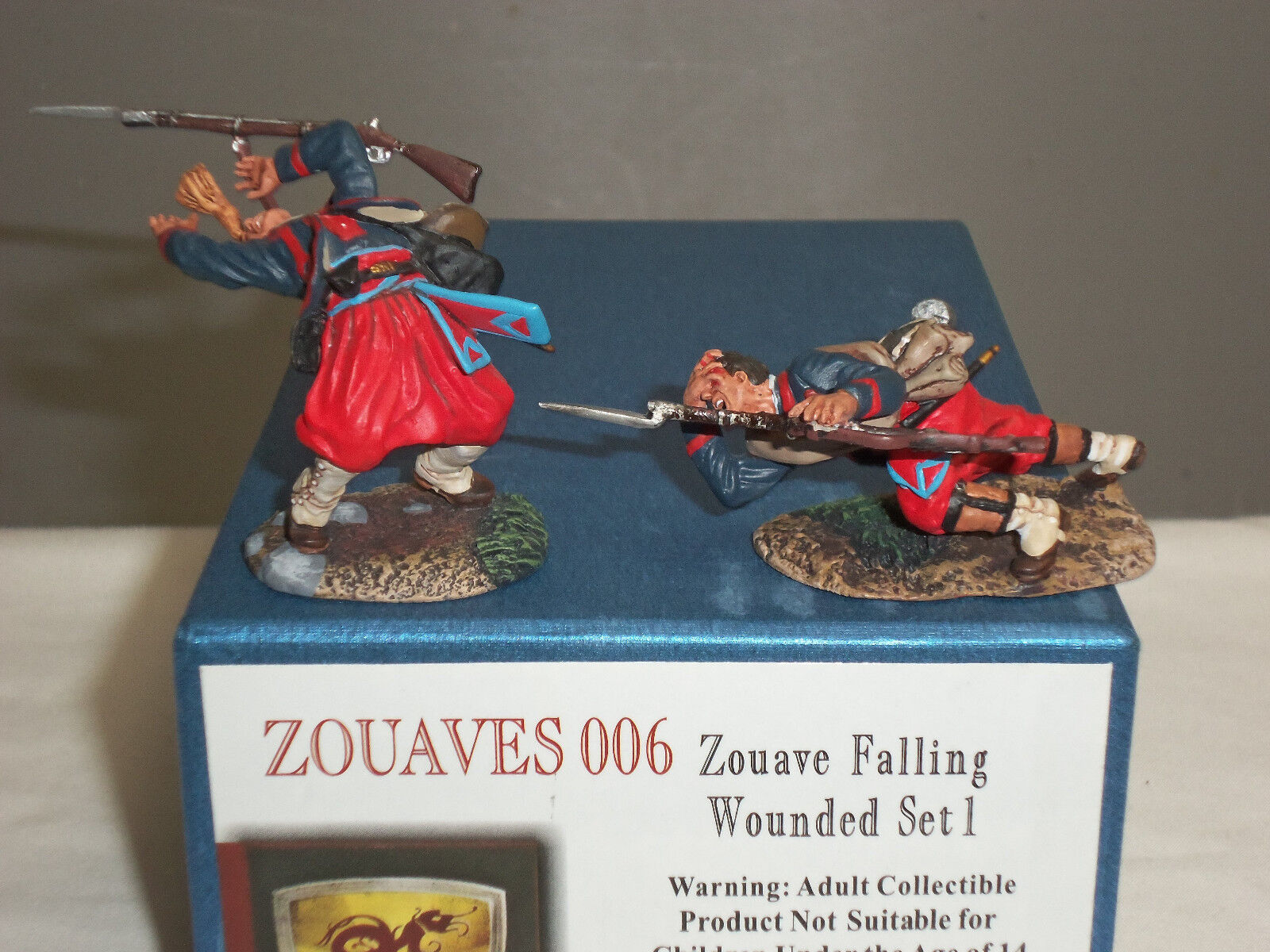 CONTE ZOUAVES006 ZOUAVES FALLING WOUNDED AMERICAN CIVIL WAR TOY SOLDIER SET 1