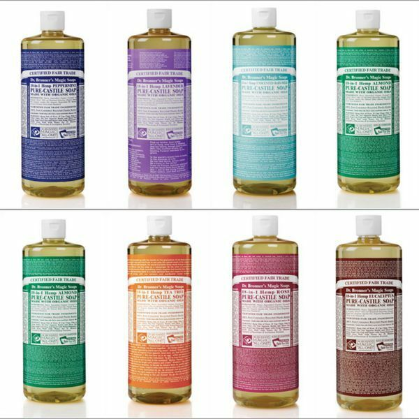 Dr  Bronners Peppermint Castile Soap Made With Organic Ingredients 473 Ml
