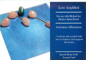 LOVE-AMPLIFIED-Grid-Card-4x6-034-Heavy-Cardstock-For-Use-with-Healing-Crystals