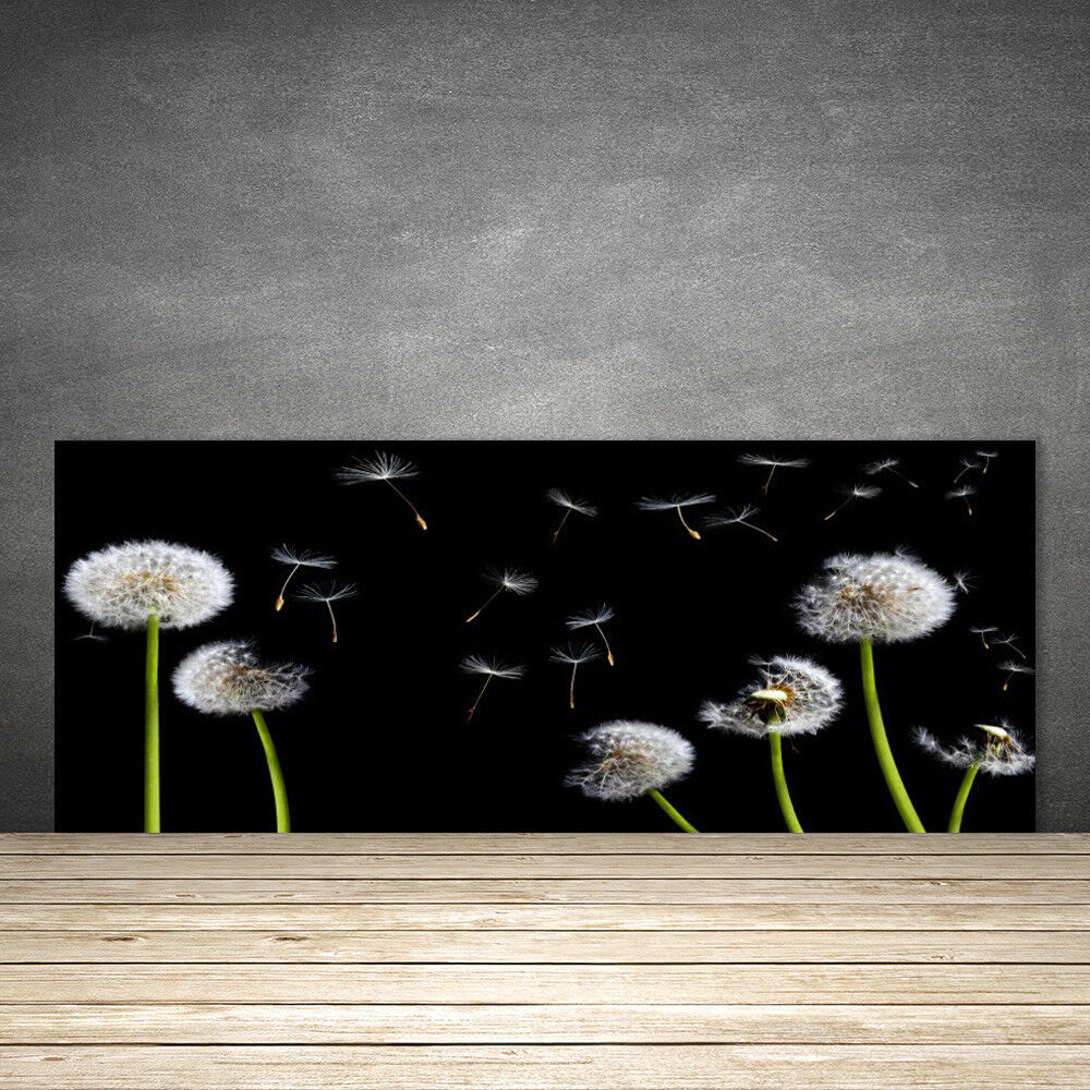 Crédence de cuisine en verre Panneau 125x50 Floral Pissenlits