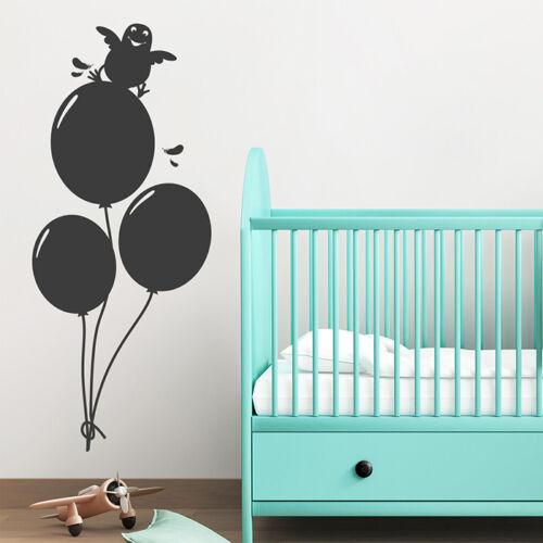 Wandsticker Wandaufkleber Wanddekoration Wandtattoo Luftballons mit Vogel
