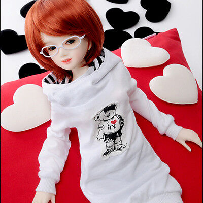 """White Teddy Hood T Dollmore  1//3 BJD 22/"""" doll clothes  SD size"""