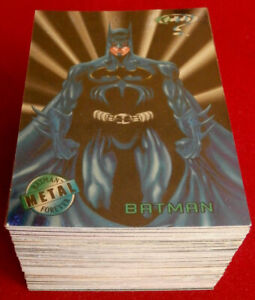 BATMAN FOREVER METAL - COMPLETE BASE SET (100 Cards) - FLEER - 1995
