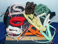 One Vintage Telephone Phone Handset 4 Line Cord Many Colors 9 Colors