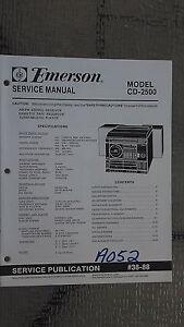 emerson cd 2500 service manual original repair book stereo cd player rh ebay com emerson 3 compact disc player manual emerson clock radio cd player manual