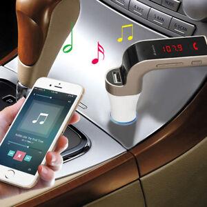 G7-Bluetooth-Car-Kit-Handsfree-FM-Transmitter-Radio-MP3-Player-USB-Charger-amp-AUX