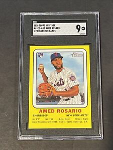 2018-Topps-Heritage-039-69-Collector-Amed-Rosario-True-RC-Rookie-SGC-9-PSA