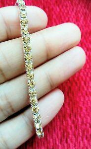 DIAMANTE CRYSTAL RHINESTONE STRETCH ELASTIC 1 ROW PROM BRACELET BAND Gold