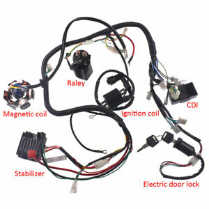 wiring harness wire loom stator electrics for gy6 125cc 150cc buggy rh ebay com