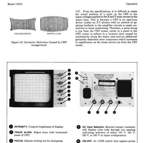 HP 1340 A X-Y DISPLAY Operating /& service manual