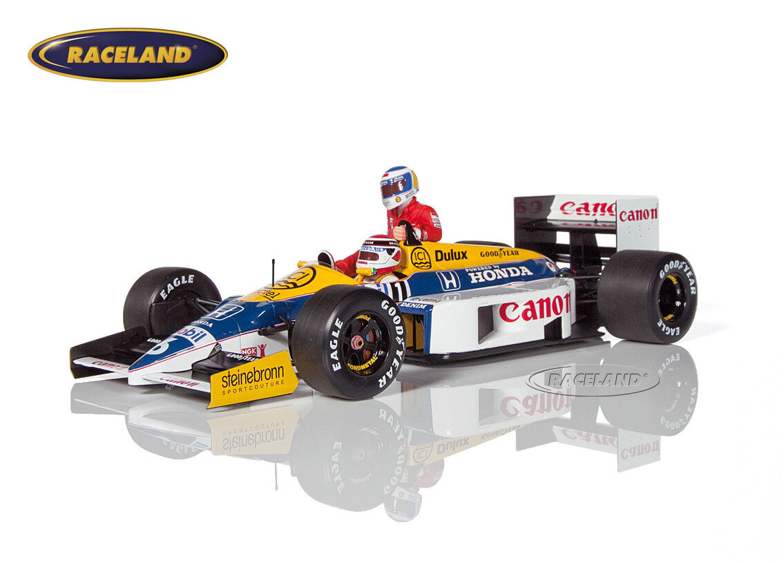 Williams fw11 f1 GP Germania 1986 Nelson Piquet taxi Rosberg, Minichamps 1 18