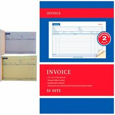 1 carbonless invoice receipt record book 2 part 50 sets duplicate