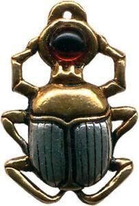 Jewels of Atum Ra SCARAB Egyptian Pendant Charm Amulet Talisman Courage Ritual