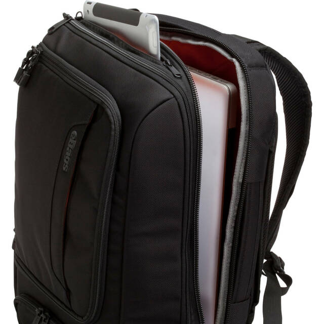 eBags Professional Slim Business & Laptop Backpack, Solid Black, New with Tag