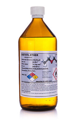 1000ml,1L Diethyl Ether•Ethyl Eter 99.9%+•high quality product•
