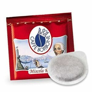 100-cialde-carta-caffe-BORBONE-miscela-ROSSA-ESE-44-mm-filtrocarta-rosso