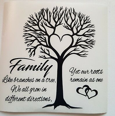 up to 6 names vinyl decal sticker Ikea frame size personalised family tree