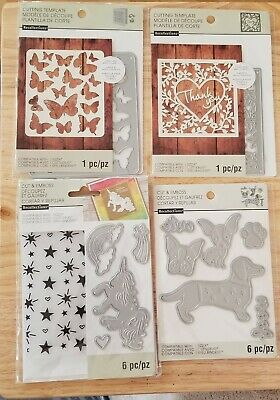 Recollections Cut /& Emboss 4 Dies MIX SCROLL 508094 NEW