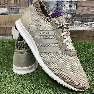 UK10.5 Adidas Los Angeles LA Hype Pack Clear Brown AF4191 Rare Lakers Trainers | eBay