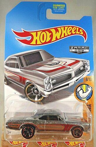 2017 Hot Wheels Walmart #3 Zamac  Muscle Mania 8//10 /'67 PONTIAC GTO Zamac w//MC5s