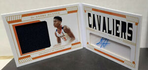 2019-20 Panini National Treasure De'Andre Hunter Rookie Patch Auto Booklet #/56
