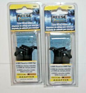 2-ct-Reese-Towpower-6-way-4-way-Trailer-Wiring-Adapter-74605-TT3