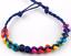 Braccialetti dell/'amicizia Rainbow Perline Pride Boho Festival Party Bag cavigliera regalo UK