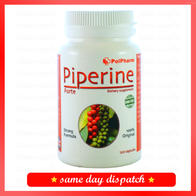 Original Piperine Forte PIPERYNA 120 Caps Slimming Fat
