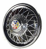 VESPA PX T5 LML 125 150 200 Spoked Accessory Wheel Trim Disc - Black & Chrome