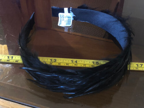 Claire/'s Claires Accessories Black Feather Elegant Head Band £8.50 RRP