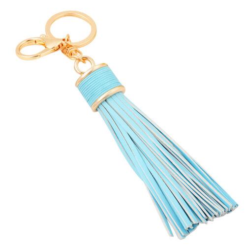 Women Leather Tassel Keychain Purse Bag Buckle HandBag Pendant Keyring JewelOQ