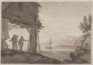 034-VOILIER-034-Dessin-original-encre-sepia-signe-SG-septembre-1810-46x29cm