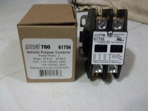 61757 Definite Purpose Contactor 2 Pole New In Original Box MARS 780