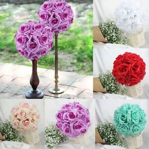 10qty rose flower ball artificial pomander bouquet kiss ball wedding image is loading 10qty rose flower ball artificial pomander bouquet kiss mightylinksfo