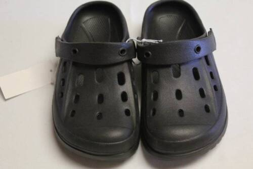 NEW Boys Water Shoes Kids Large 2-3 Black Sandals Clogs Slip On Summer Pool